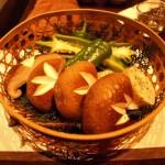 しいたけ・万願寺唐辛子などの野菜焼き