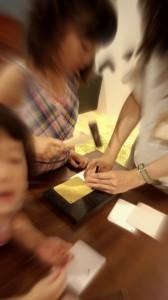 土屋鞄 童具店 神戸 ランドセル 名刺入れ作成体験